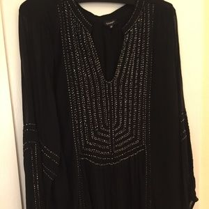 Tolani Black Beaded Tunic